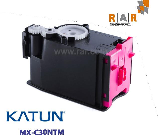 MXC30NTM  - CARTUCHO DE TONER MAGENTA COMPATÍVEL 100% NOVO - KATUN PERFORMANCE PARA SHARP MX-C300W