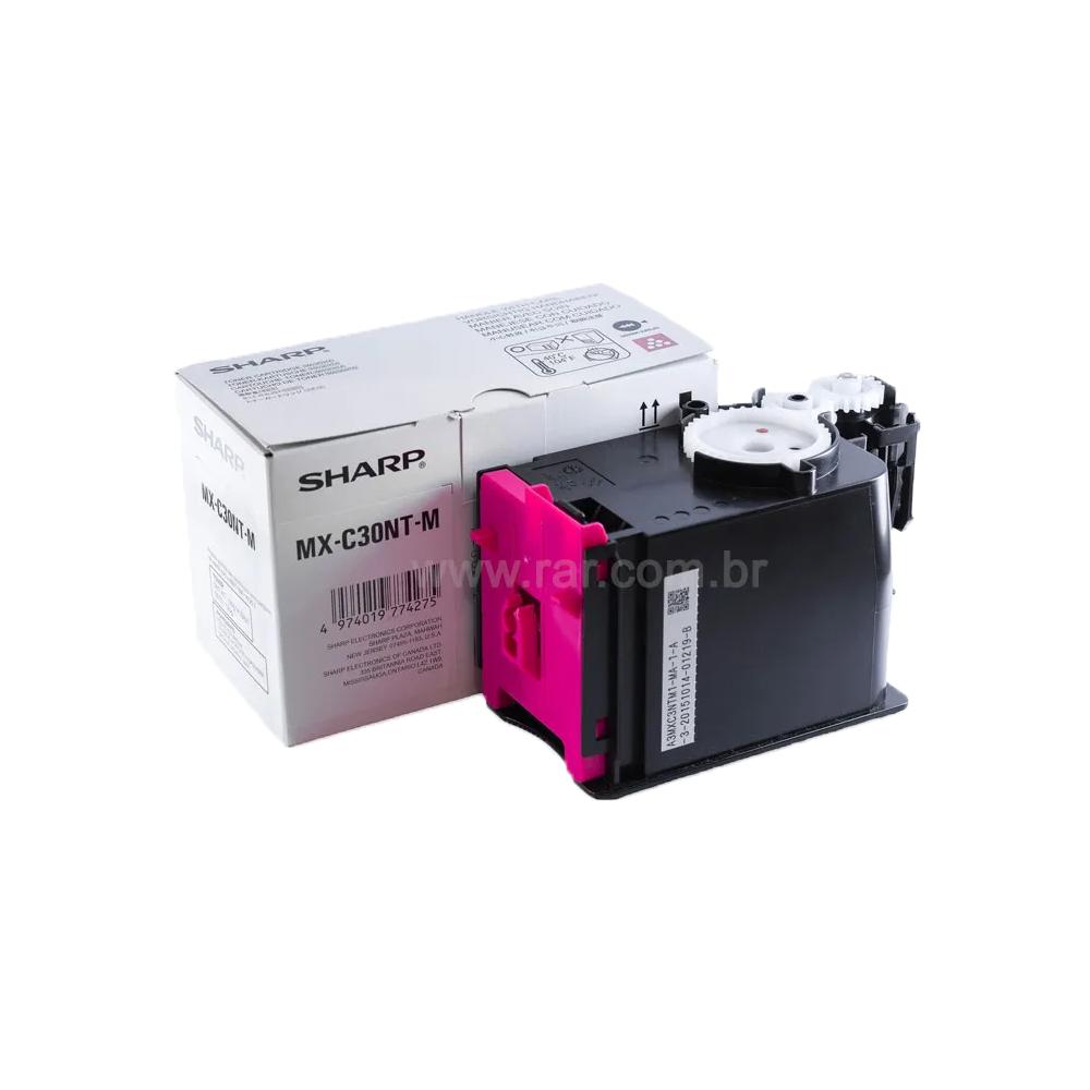 MXC30NTM   MX-C30NTM - Cartucho de Toner Magenta Compatível Katun Performance - Para uso em Sharp MX-C250   MX-C300W