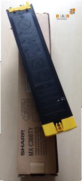MXC38BTY - CARTUCHO DE TONER AMARELO ORIGINAL SHARP MX-C381B / MX-C382