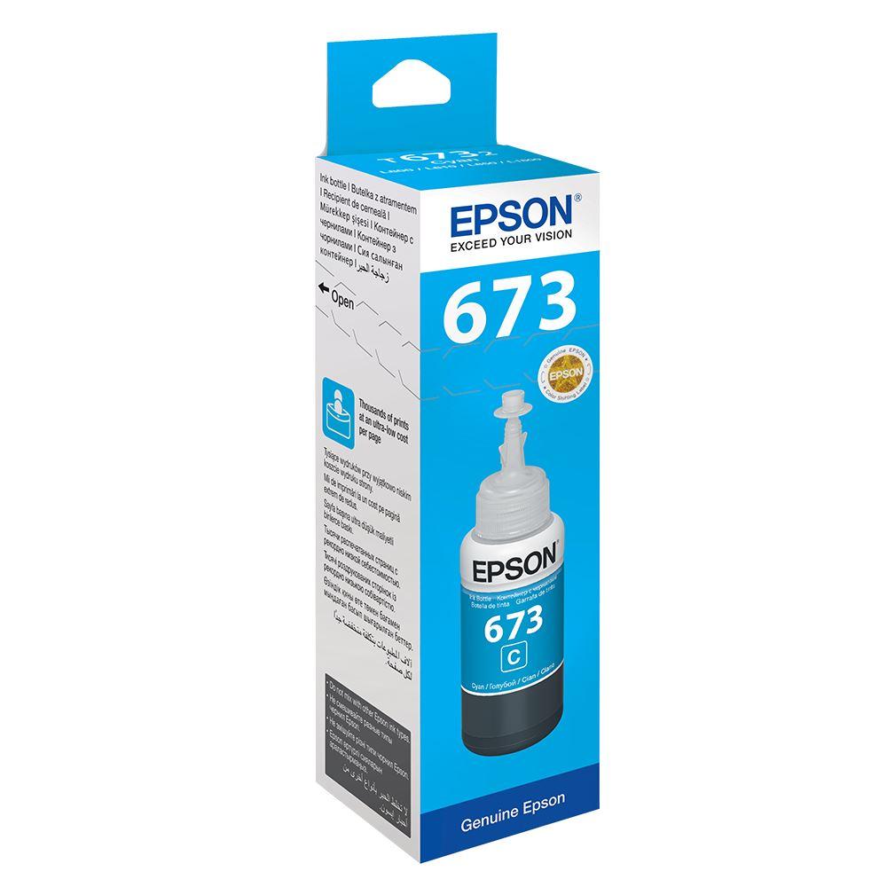 REFIL DE TINTA CYAN ORIGINAL PARA ECOTANK EPSON L355/L200/L110 - T664220AL