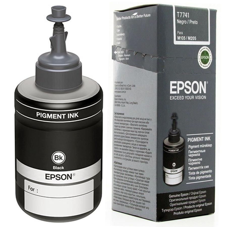 REFIL DE TINTA PRETO ORIGINAL PARA ECOTANK EPSON L355/L200/L110 - T774120-AL