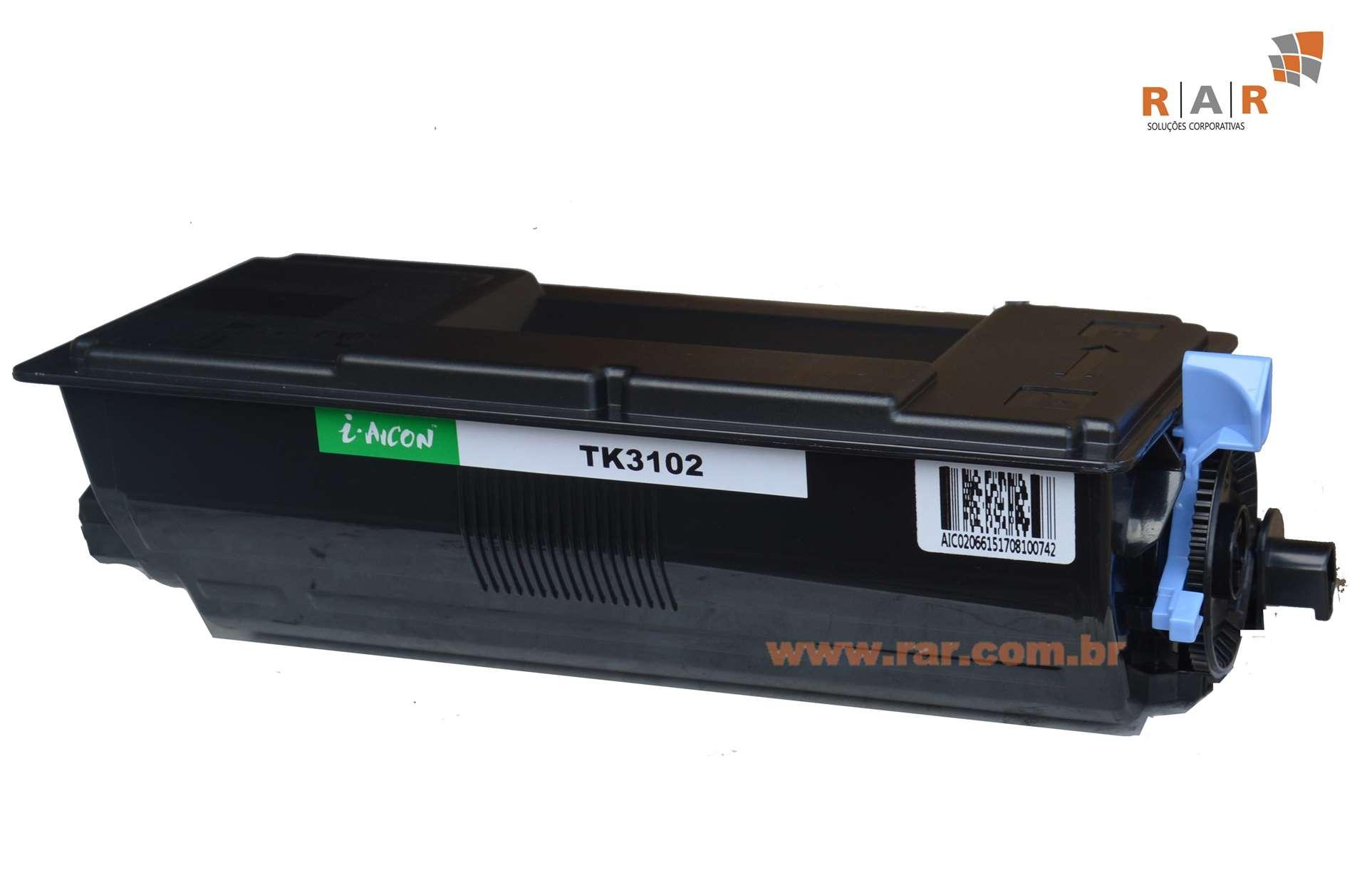 TK3102 (TK-3102) CARTUCHO DE TONER PRETO COMPATÍVEL NOVO PARA KYOCERA ECOSYS M-3040IDN E SERIES
