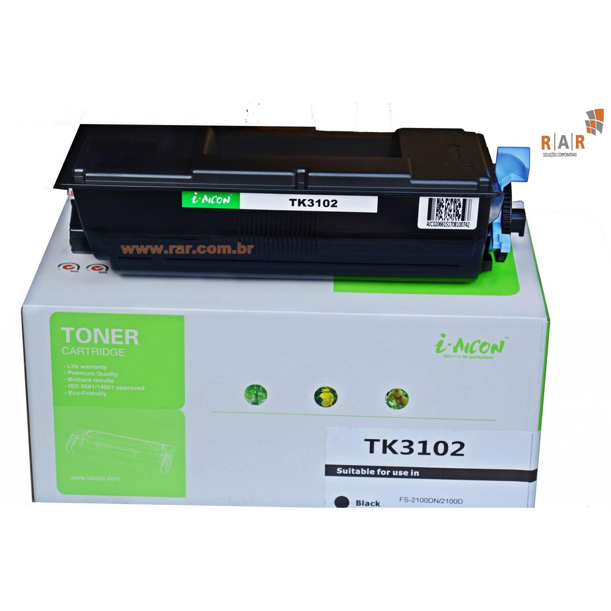 TK3102 / TK-3102 / 1T02MS0US0 - CARTUCHO DE TONER PRETO COMPATÍVEL NOVO PARA KYOCERA ECOSYS M-3040IDN E SERIES