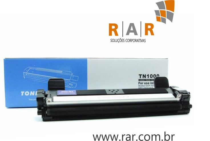 TN1060 (TN-1060)  - CARTUCHO DE TONER PRETO COMPATÍVEL 100% NOVO PARA BROTHER DCP-1602 / DCP-1512 E SERIES