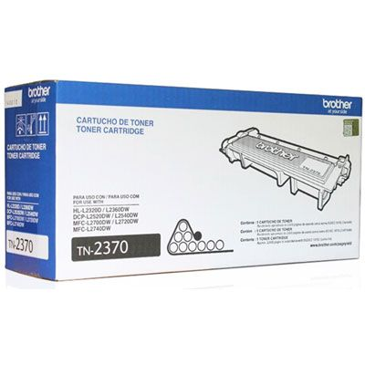 TN2370 - CARTUCHO DE TONER PRETO ORIGINAL DO FABRICANTE PARA BROTHER HL-L2360DW, HL-L2320D