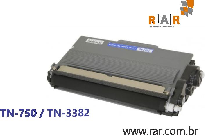 TN750 / TN3382 / TN3392 (TN-750 / TN-3382 / TN-3392)  - CARTUCHO DE TONER PRETO COMPATÍVEL 100% NOVO PARA BROTHER DCP-8157DN E SERIES