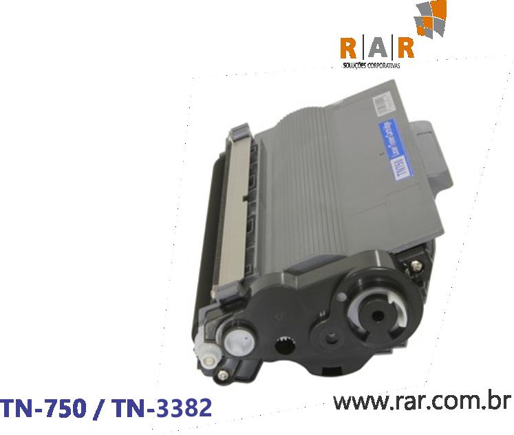 TN750 / TN3382 - CARTUCHO DE TONER PRETO COMPATÍVEL 100% NOVO PARA BROTHER DCP-8112DN / HL-5452DN E SERIES