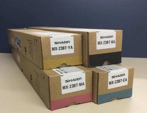 Toner Original SHARP, Kit com 4 cores (MX23BTBA, MX23BTMA, MX23BTYA, MX23BTCA) | MX-2310U, MX-2010U | KATUN