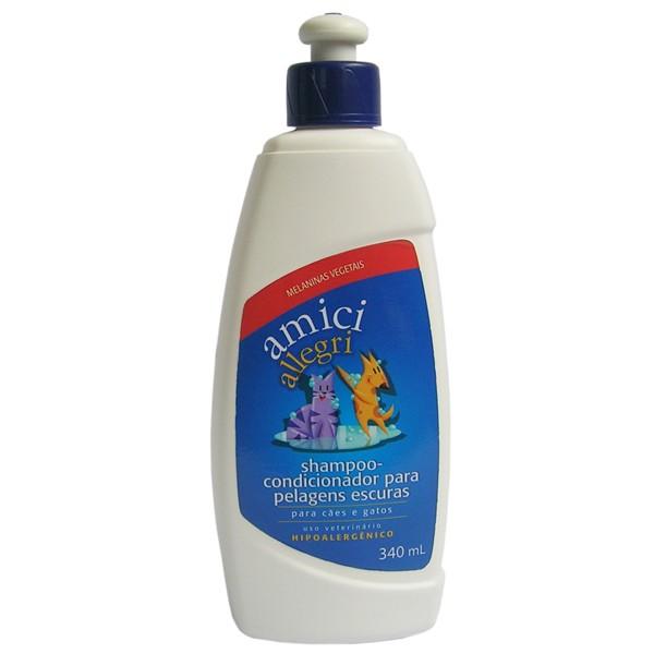Shampoo Condicionador Pelos Escuros - Amici 340ml