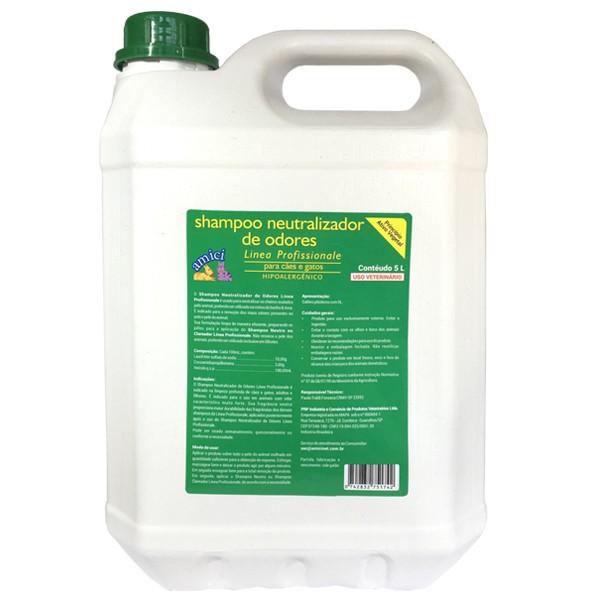 Shampoo Neutralizador de Odores 5L Linea Profissionale Amici