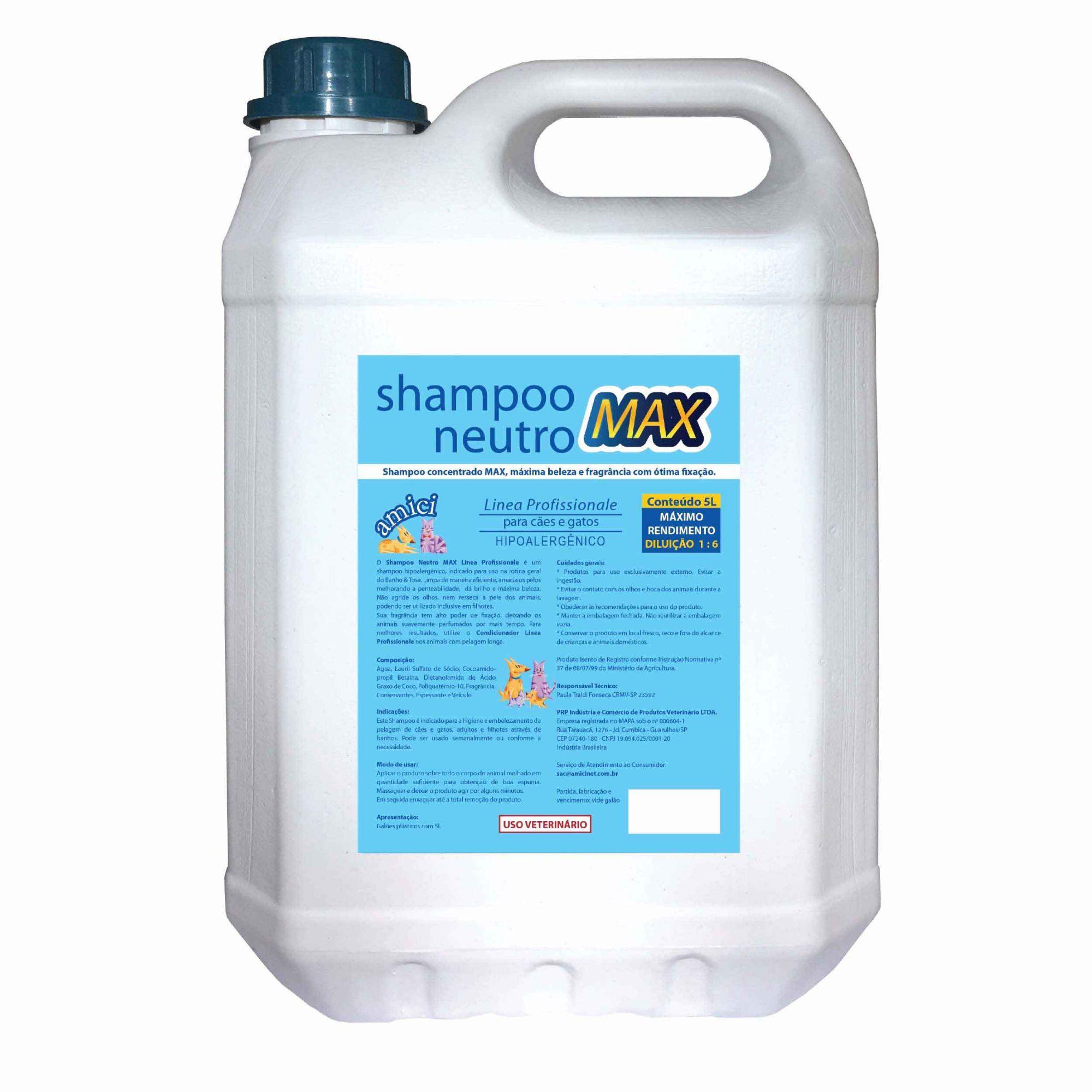 Shampoo Neutro MAX Linea Profissionale