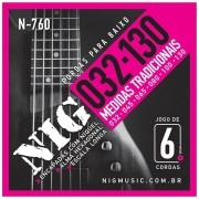Encordoamento Nig  0.32 6 cordas N760