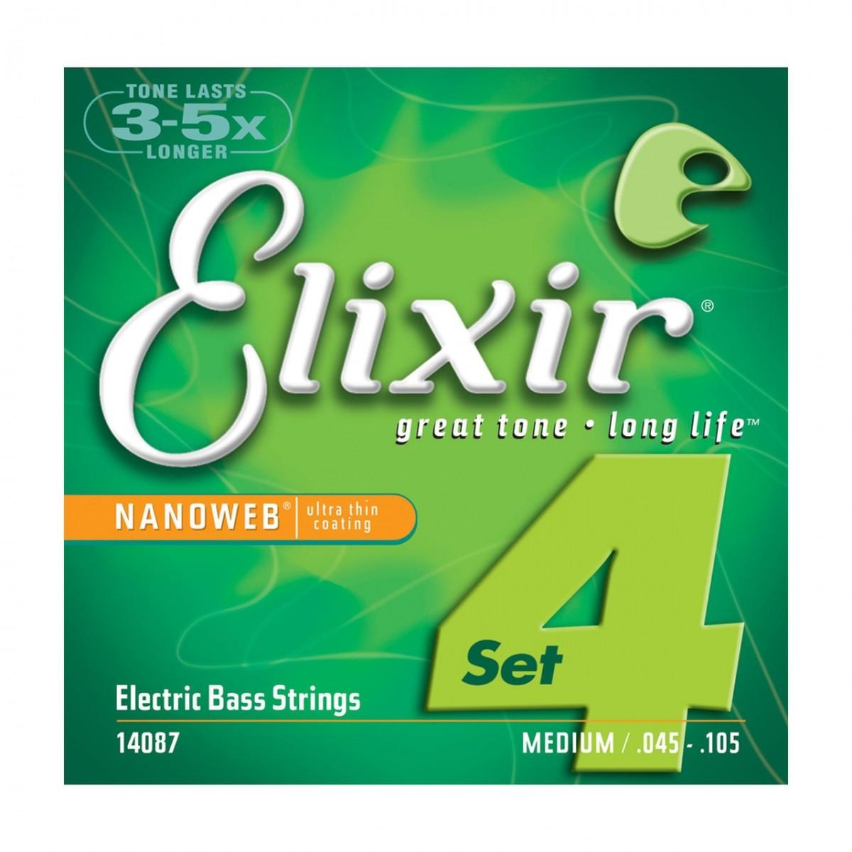 Encordoamento Baixo Elixir 4C 0.45 Nanoweb