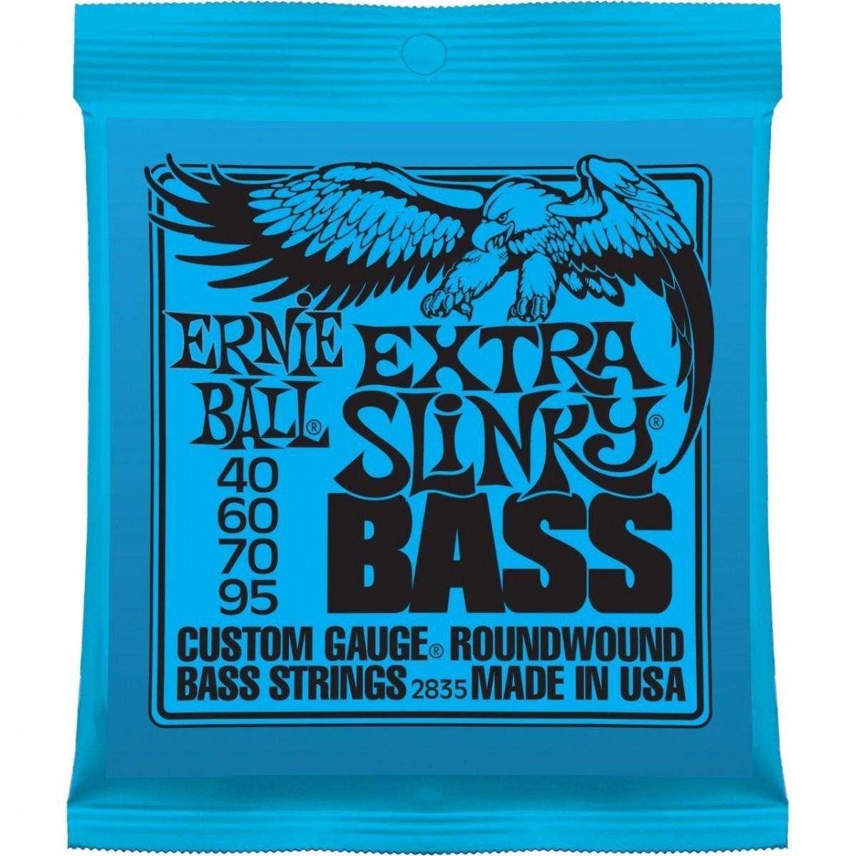 Encordoamento Baixo Ernie Ball 4 cordas 0.40