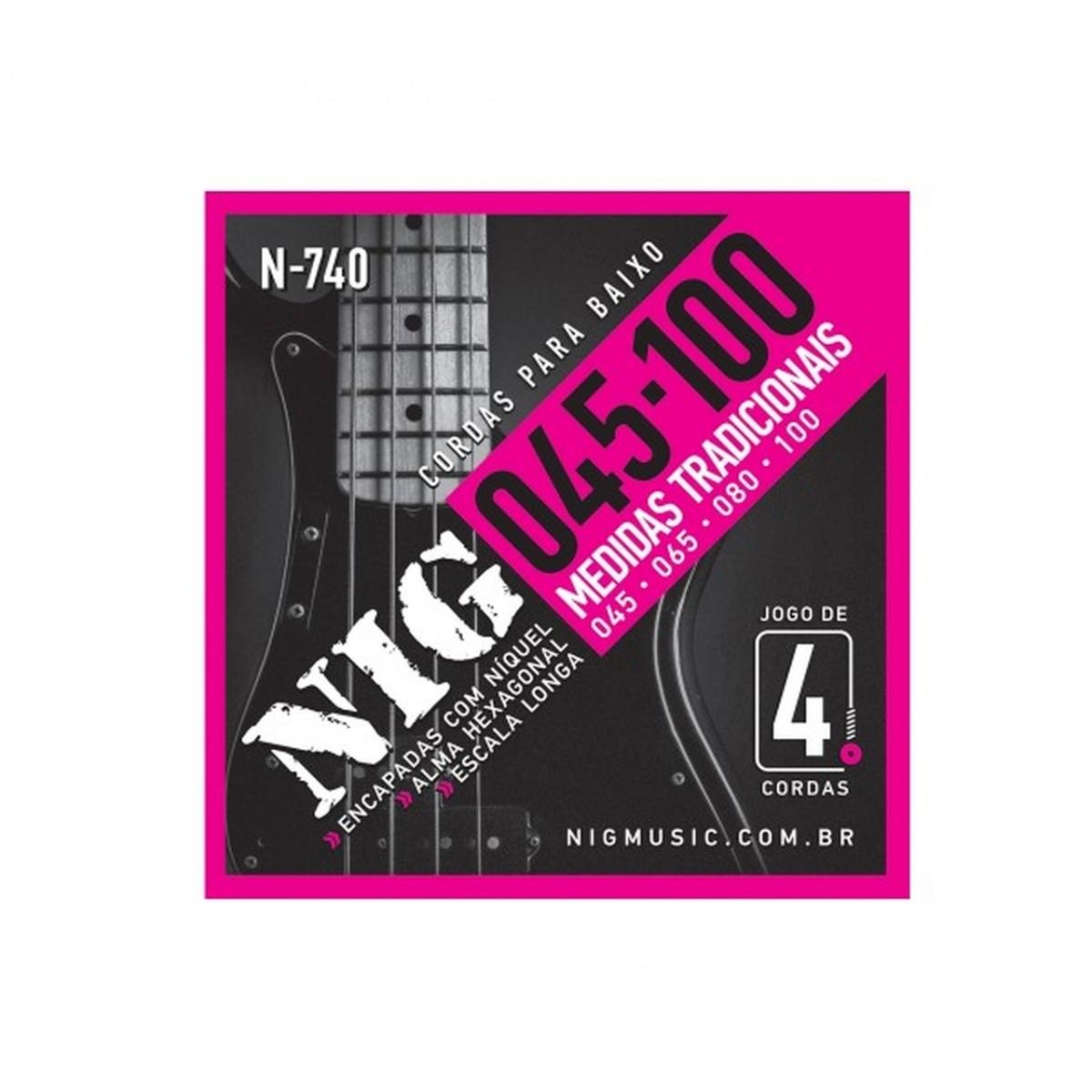 Encordoamento Baixo Nig 0.45 4 Cordas N740