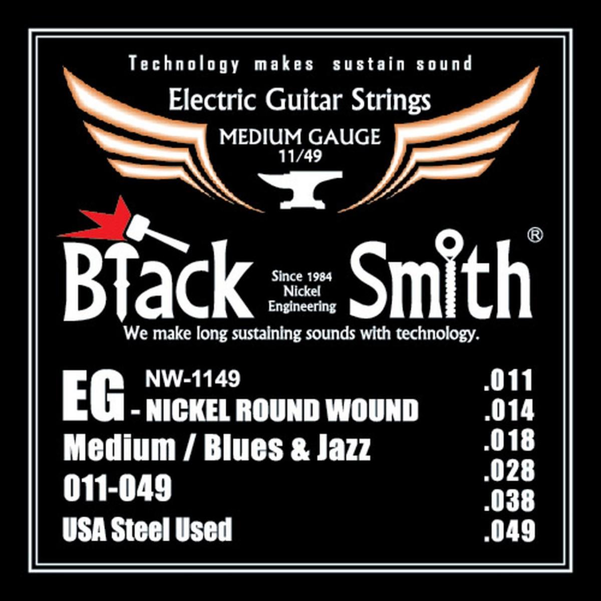 Encordoamento de Guitarra 0.11  Black Smith