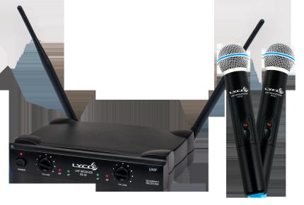 Microfone de Mão Lyco UH 02MM S/Fio UHF