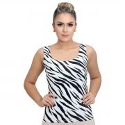 Regata Feminina Estampa Zebra Decote Redondo