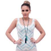Regata Feminina Estampa Exclusiva Summer Ikat Tiffany Decote Redondo