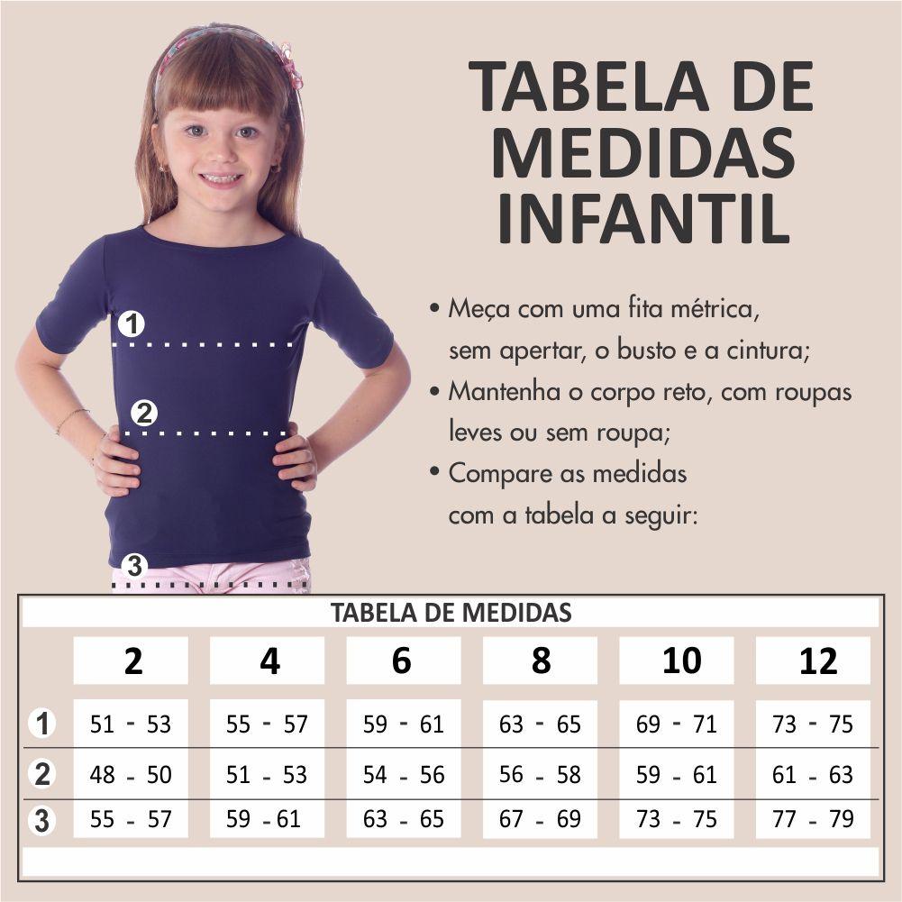 Kit Mãe e Filha Blusas FICALINDA Azul Marinho Meia Manga Decote Canoa