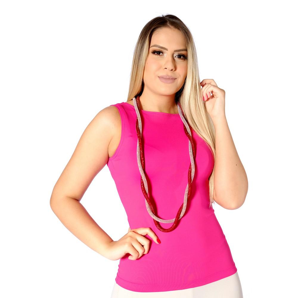 Regata Feminina Pink Decote Canoa
