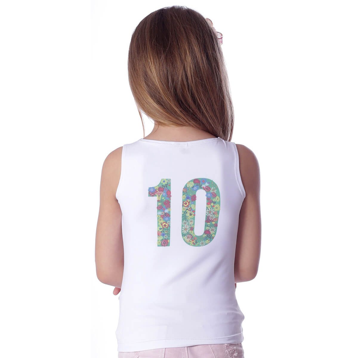 Regata Infantil Estampa Exclusiva Copa do Mundo BRASIL 10 Decote Canoa