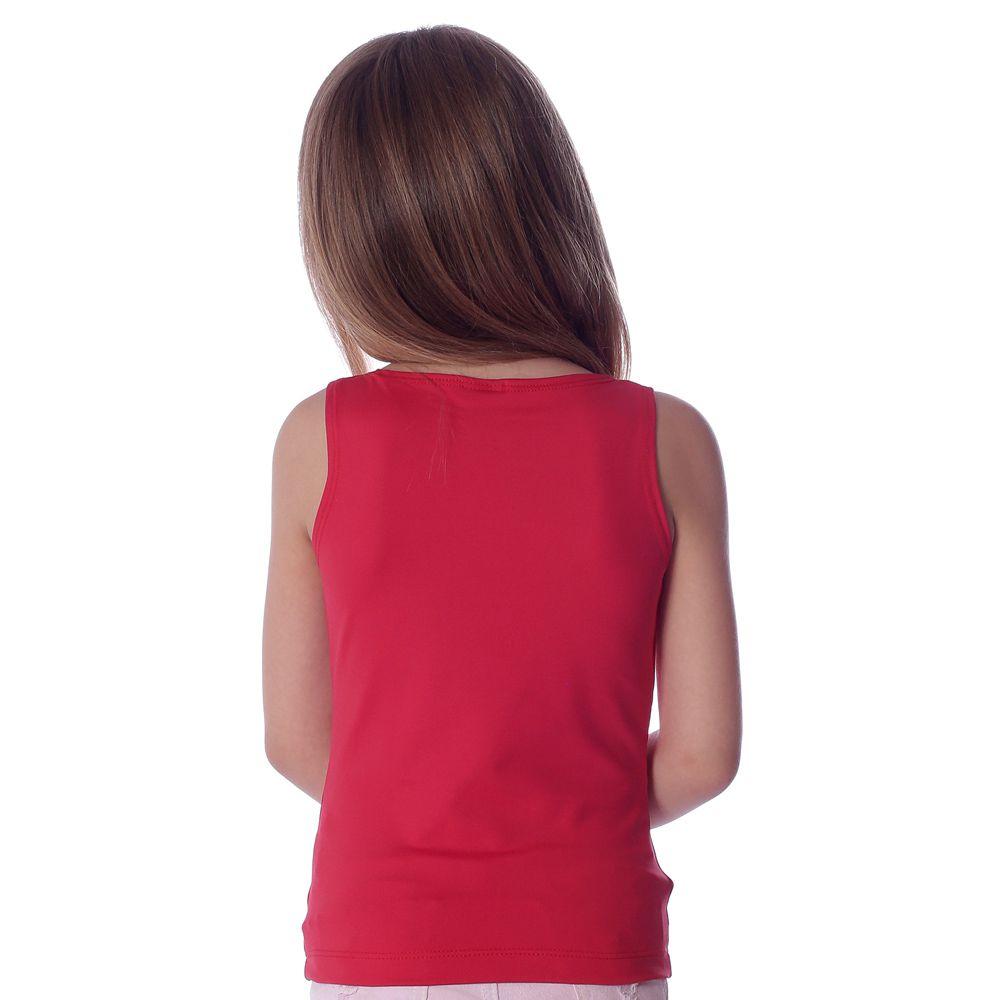 Regata Infantil Feminina Vermelha Decote Canoa