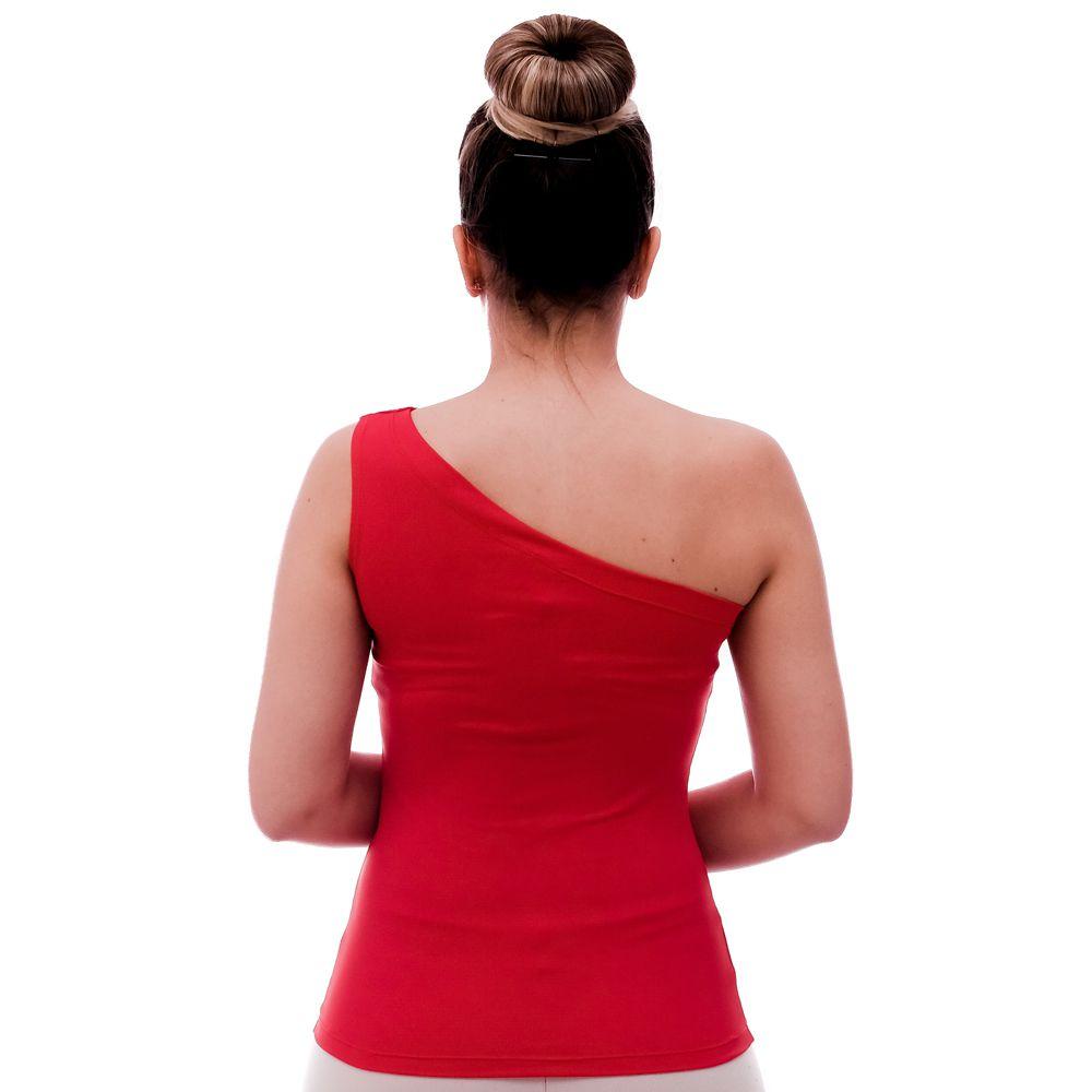 Regata Feminina Ombro Só Vermelha