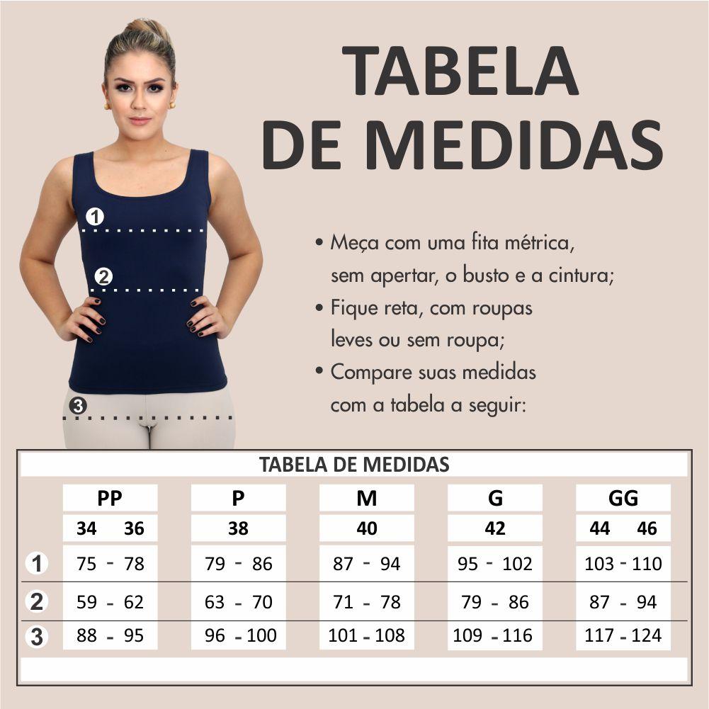 Regata Feminina Estampa Exclusiva Maxi Mag com Listras Decote Canoa