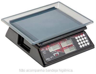 BALANÇA COMPUTADORA DE CRISTAL LÍQUIDO - S/ BATERIA - 15 KG - DCR CL 15 - RAMUZA