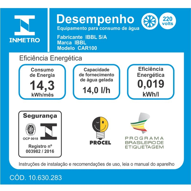BEBEDOURO INDUSTRIAL DE PRESSÃO CAR100 INOX - IBBL