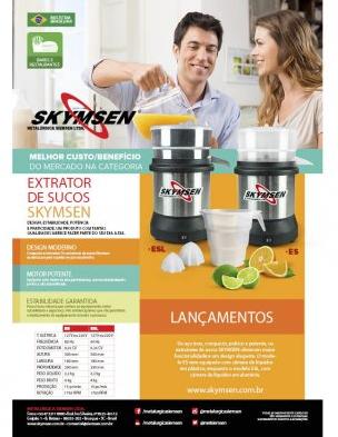 EXTRATOR DE SUCOS ESL - CÂMARA DE SUCOS EM INOX - 0,25CV - SKYMSEN