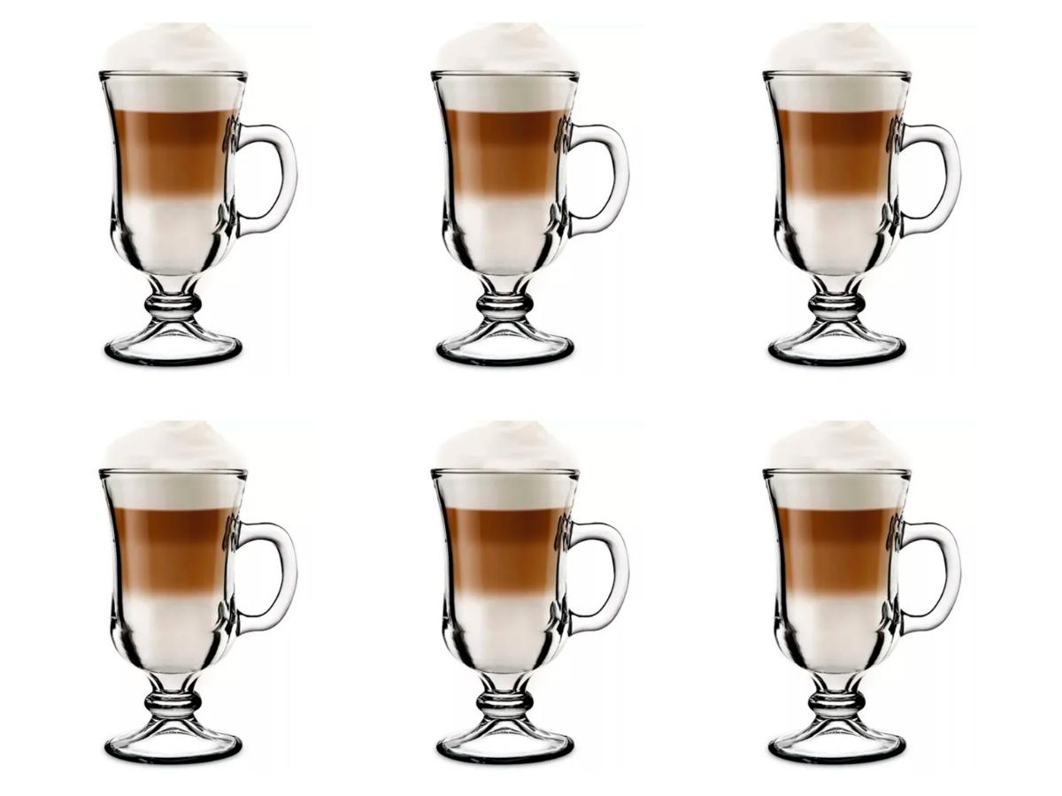 JOGO 06 UNIDADES XÍCARA NEVADA IRISH COFFEE - 130 ML - 0230 - NADIR