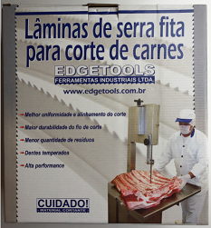 LÂMINAS DE SERRA FITA PARA CORTE DE CARNES 2.55