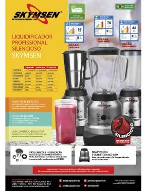 LIQUIDIFICADOR INOX COPO INOX 1,5 LITROS (SILENCIOSO) - LIS-1,5-N - SKYMSEN
