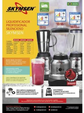 LIQUIDIFICADOR INOX COPO VIDRO 1,5 LITROS (SILENCIOSO) - LVS-1,5-N - SKYMSEN