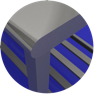 MESA TOTAL INOX 430 COM GRADE INFERIOR - 1,50 X 0,70 M - 2439 - IMECA