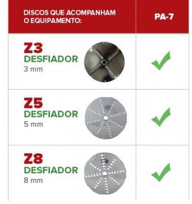 PROCESSADOR INDUSTRIAL DE ALIMENTOS COM 6 DISCOS - PA-7 - SKYMSEN