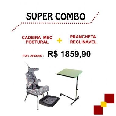 SUPER COMBO - CADEIRA MEC POSTURAL + PRANCHETA RECLINÁVEL