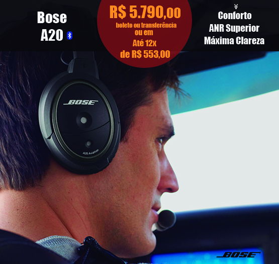 bose a20 headset com bluetooth
