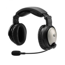LIGHTSPEED SIERRA ANR HEADPHONE AVIAÇÃO PLUGUE DUPLO BATERIA CABO RETO