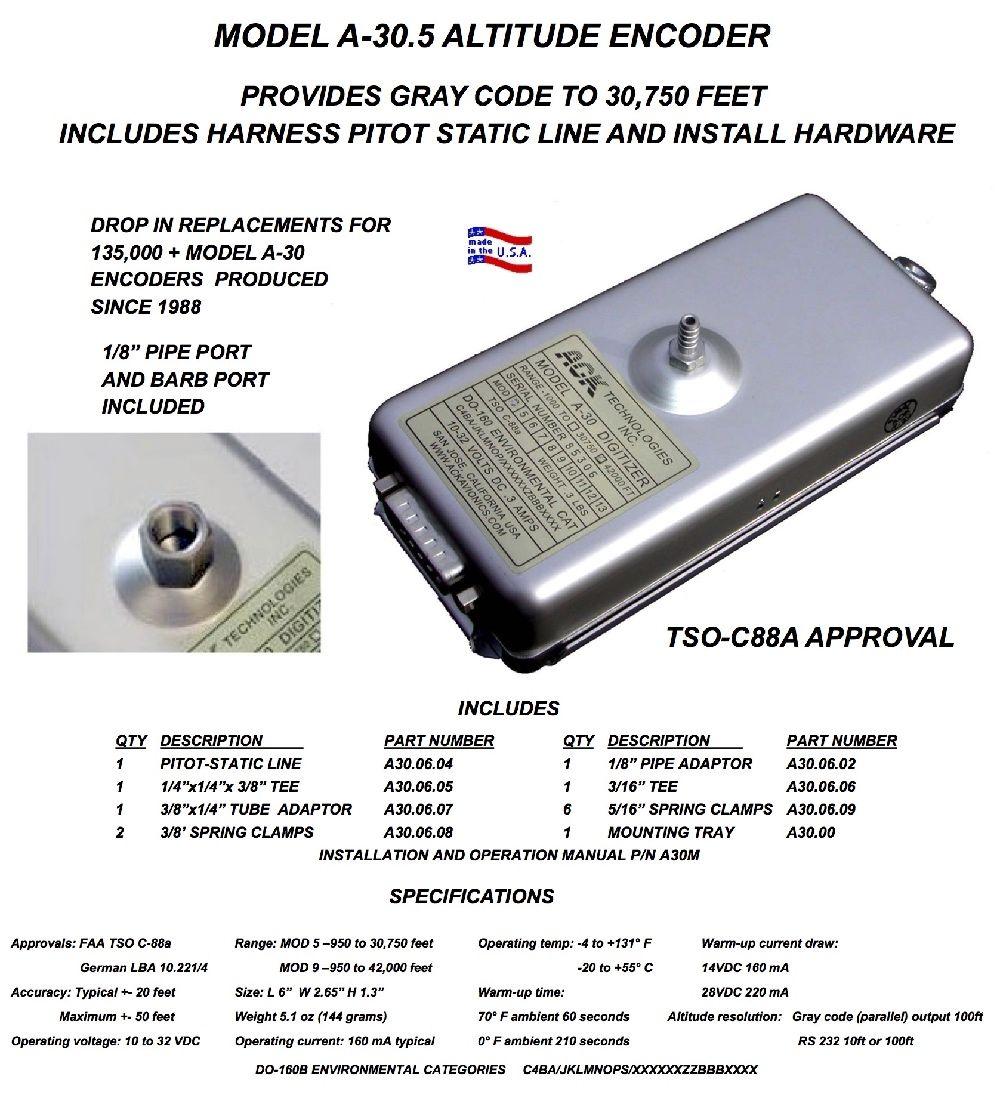 ACK Technologies | A-30.5 | Altitude Encoder