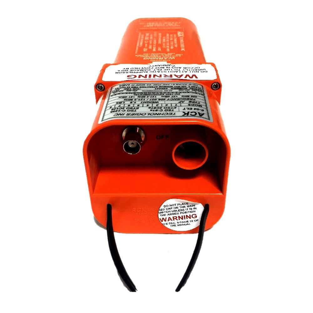 ACK Technologies | E-04 | ELT 406/121.5 MHz com interface GPS