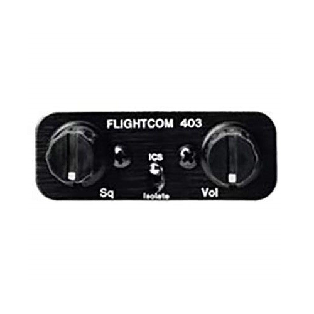 Flightcom | 403 | Intercom estéreo painel 6 posições