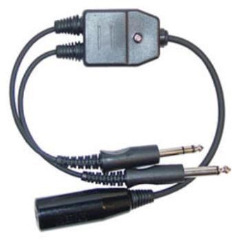 GCA | GCA-29 | Adaptador de Headset conexão militar para Plug Duplo (Dual Plug GA)