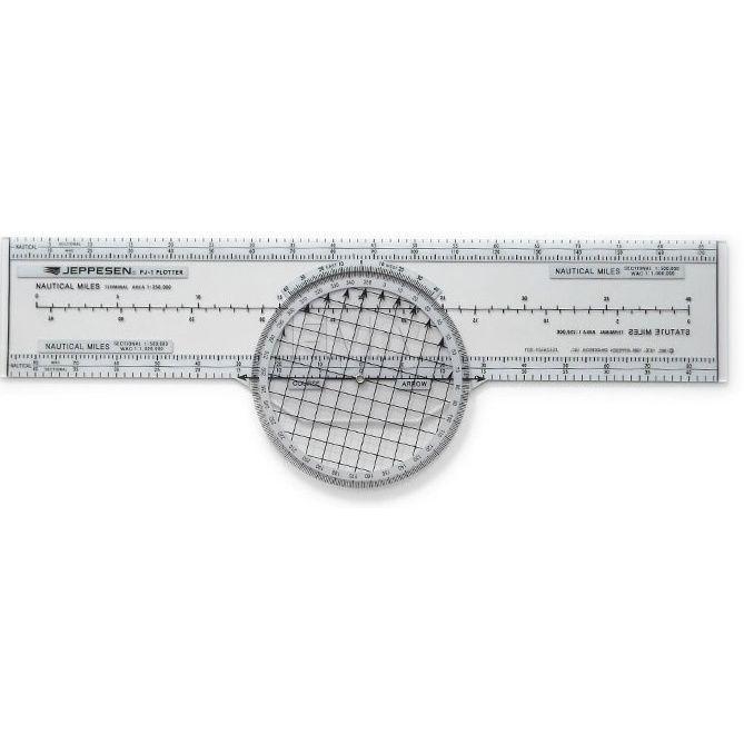 Jeppesen | PJ-1 | Régua de plotar Azimute giratória