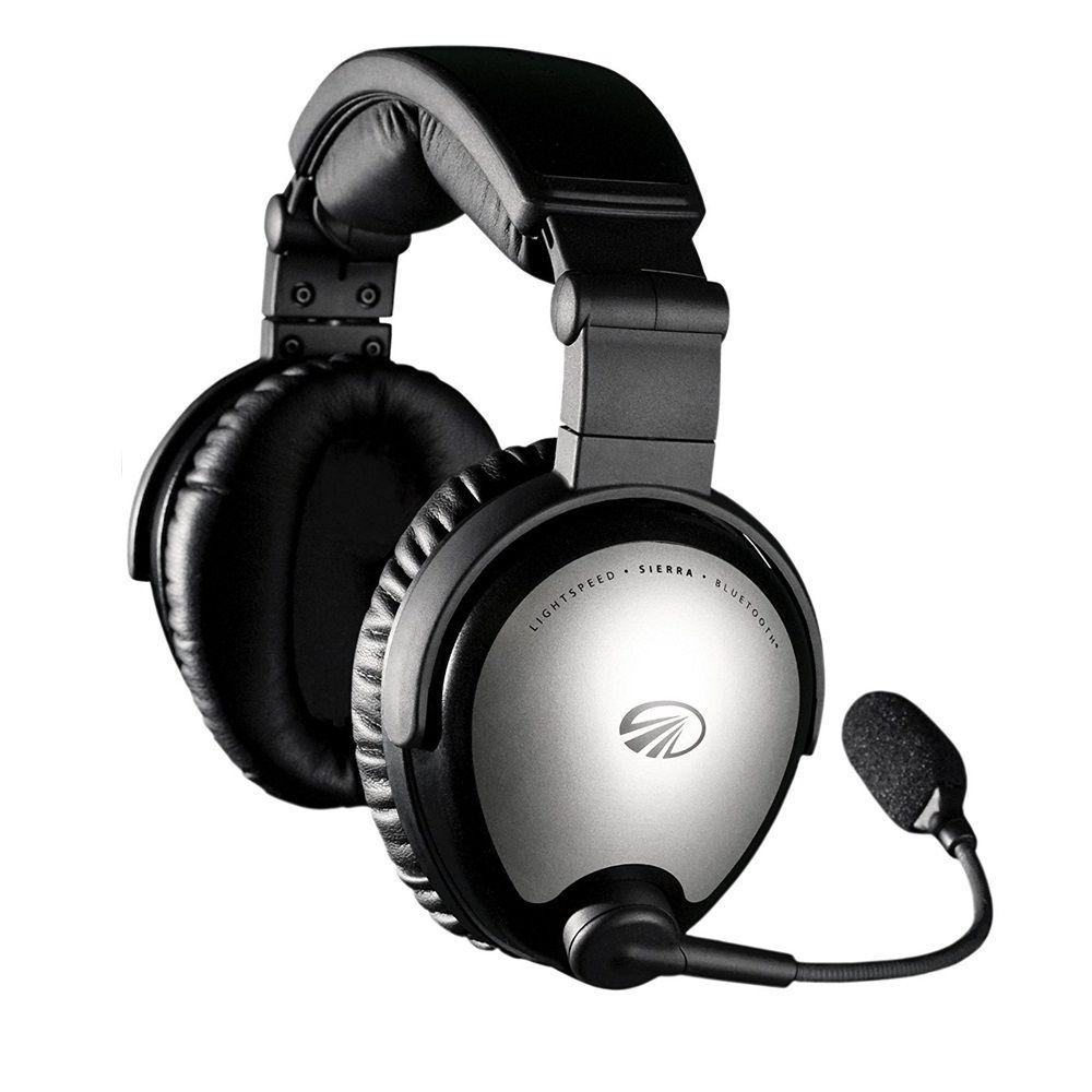 Lightspeed | Sierra | Headset Aeronáutico com ANR e Bluetooth (Plug duplo)