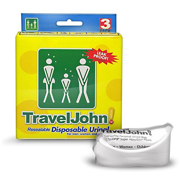 TRAVEL JOHN 66893 Coletor Urina Descartável Viagem 3 Unid