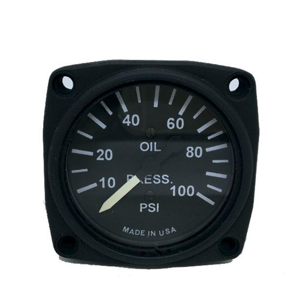 UMA 3-102-82 Indicador Pressão Óleo 0-100 PSI 2 1/4 Pol