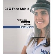 25 X Máscara Face Shield Profissional